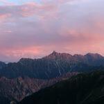 Mt.Yari in evening.
